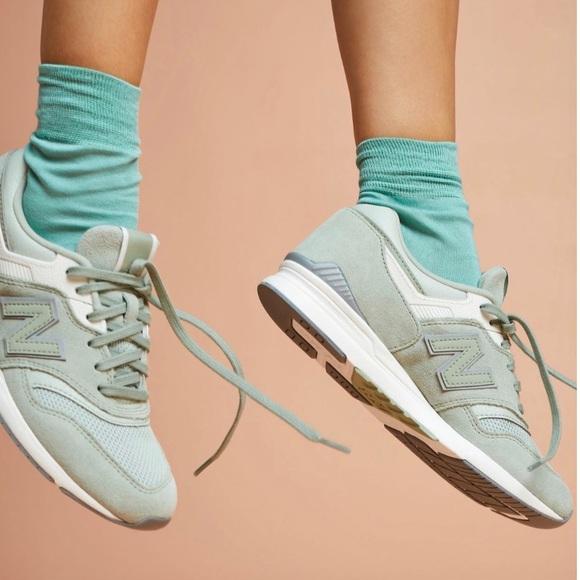 New Balance 996 697 Mint Green Trainers
